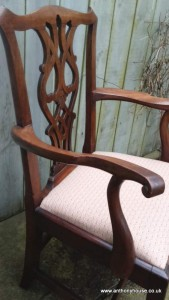Walnut-Chippendale-style-open-arm-chair (1)
