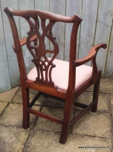 Walnut-Chippendale-style-open-arm-chair (3)