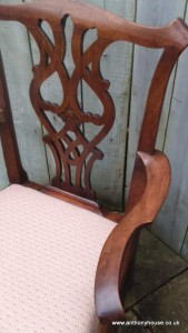Walnut-Chippendale-style-open-arm-chair (4)